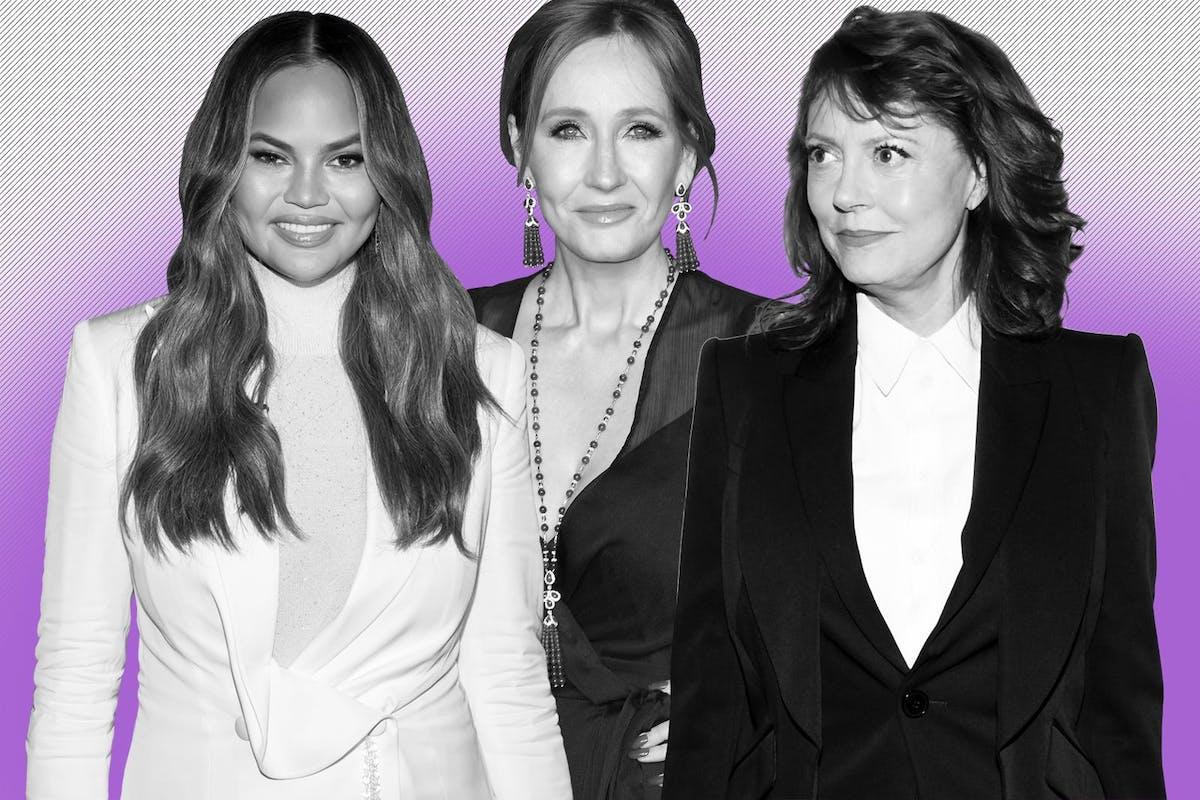 Chrissy Teigen, Susan Sarandon and JK Rowling