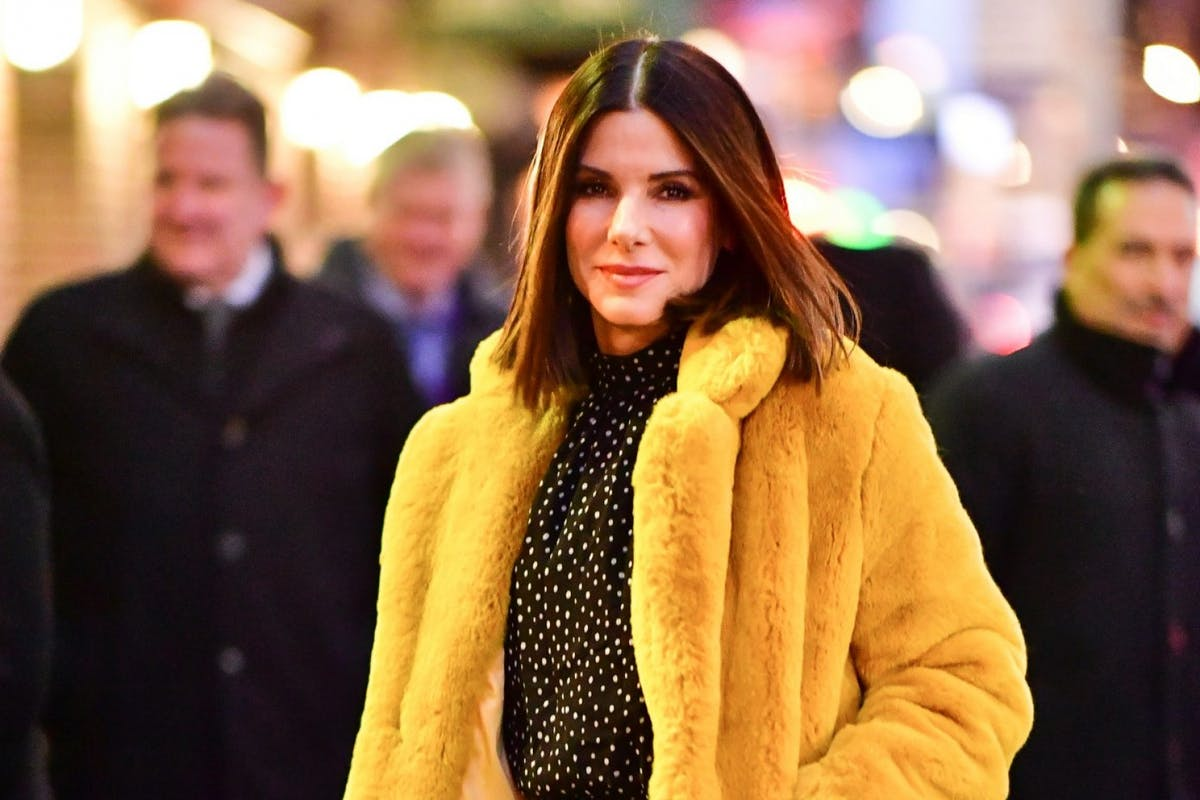 NEW YORK, NY - DECEMBER 17: Sandra Bullock arrives to 'The Late Show With Stephen Colbert' at the Ed Sullivan Theater on December 17, 2018 in New York City. (Photo by James Devaney/GC Images)