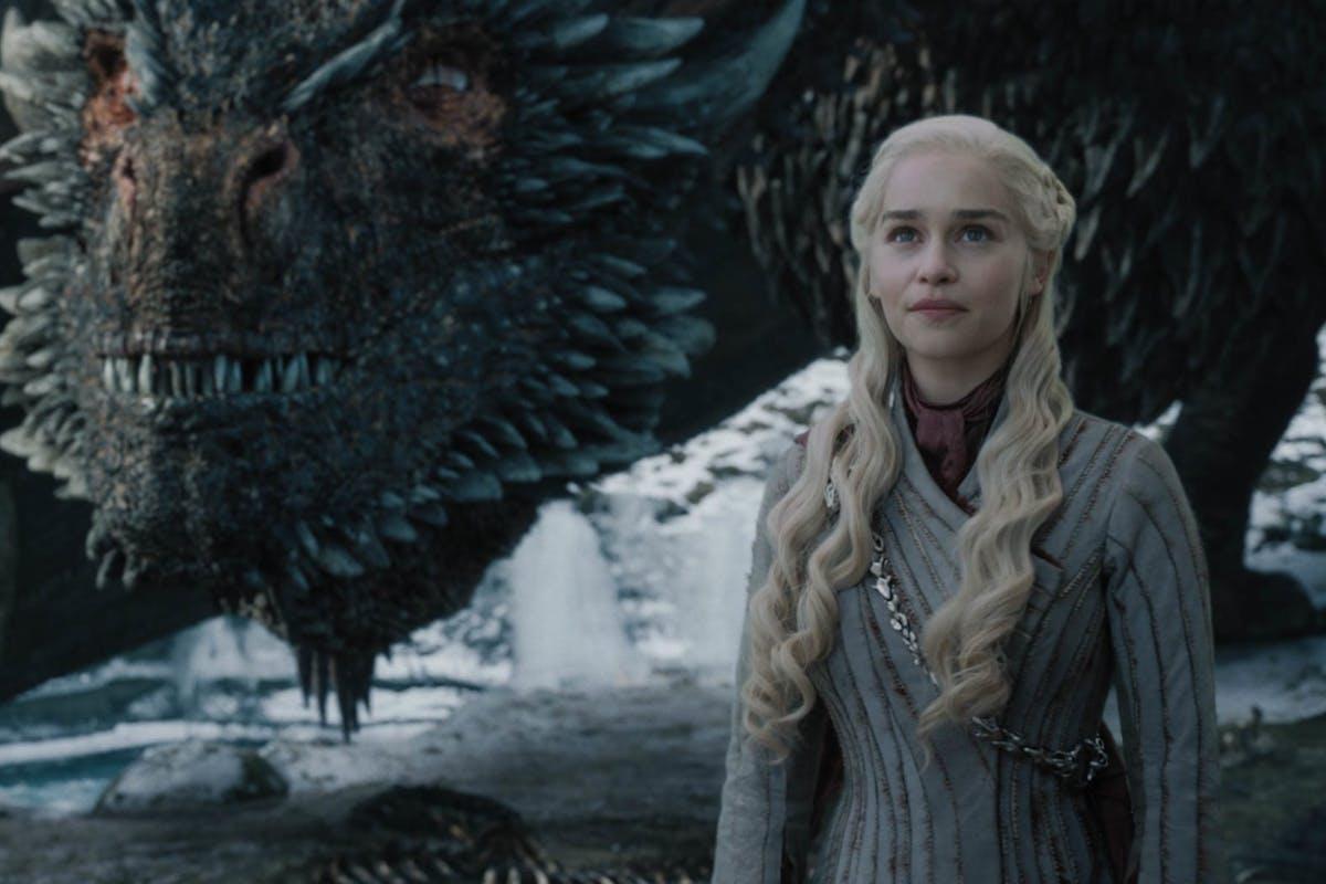 Emilia Clarke as Daenerys Targaryen in epiosde 4 season 8 of HBO's Game of Thrones