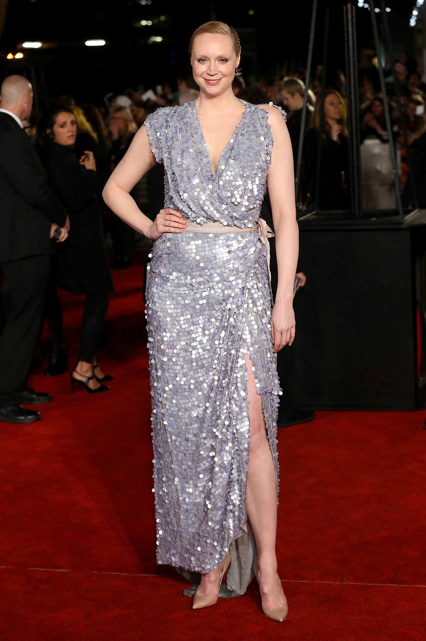 Gwendoline Christies ethereal take on the naked dress is