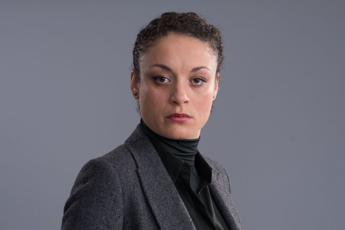 Lisa McQueen played by Rochenda Sandall in the TV drama series Line of Duty