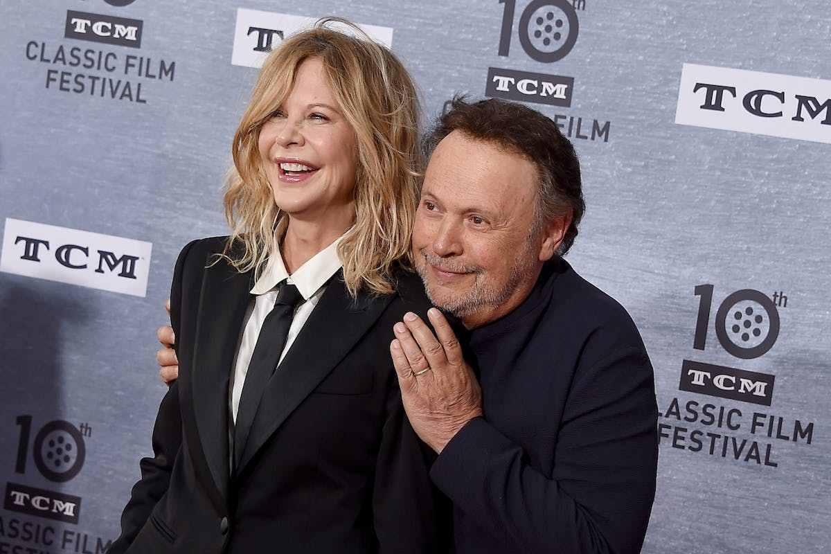 Meg Ryan and Billy Crystal on the red carpet at the TCM classic film festival for a commemorative screening of When Harry Met Sally
