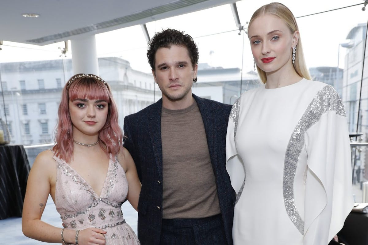 Maisie Williams, Kit Harington and Sophie Turner at the European premiere of Game of Thrones Season8
