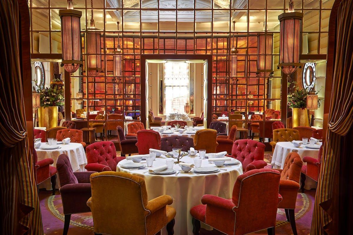 Dining room at sketch restaurant in Mayfair