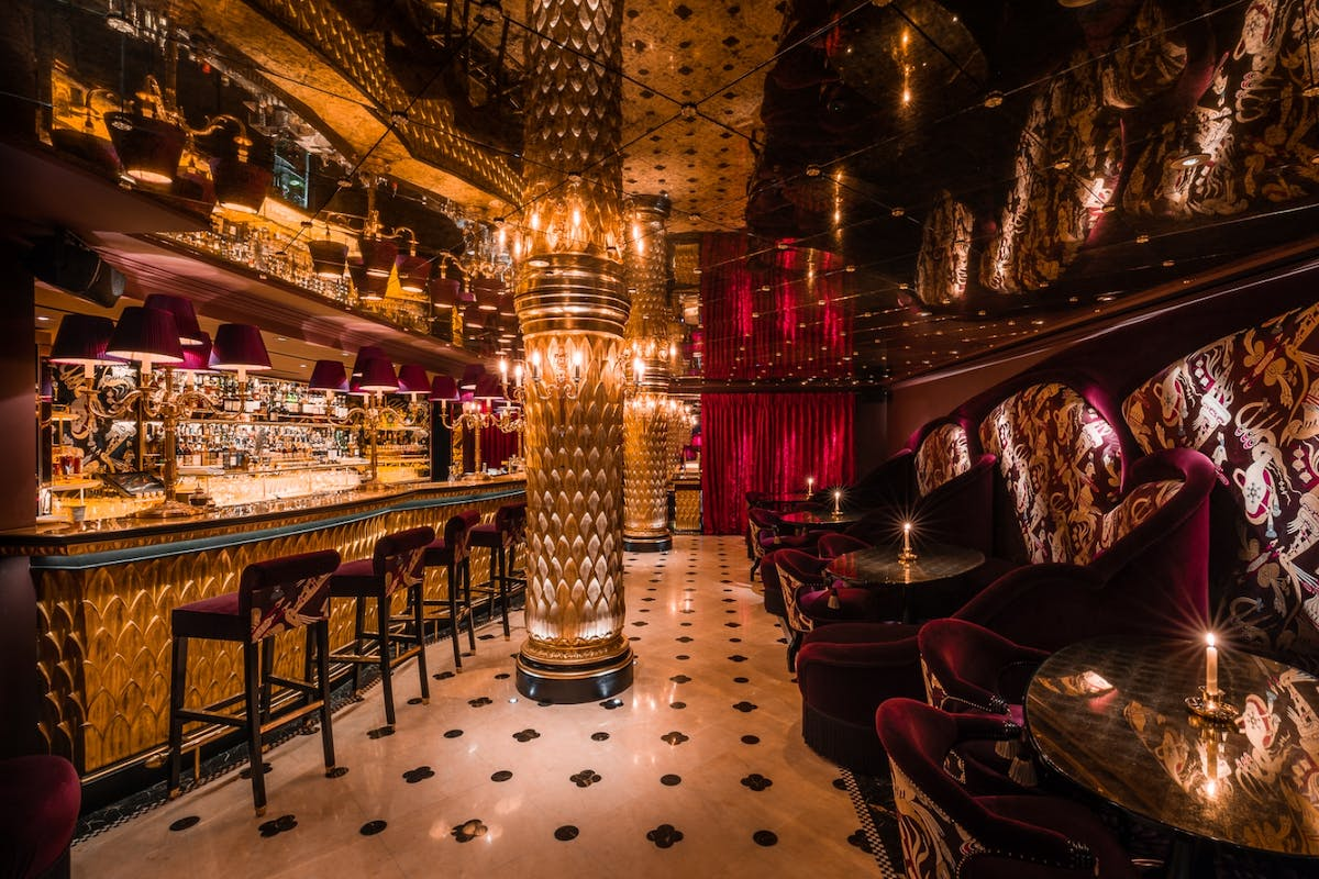 The bar at luxury Chinese restaurant Park Chinois in London