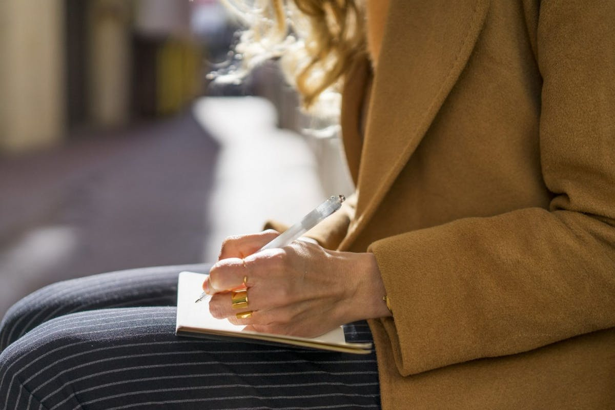 a-woman-writing