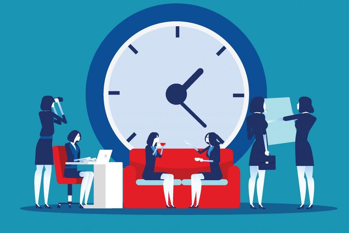 women working around the clock