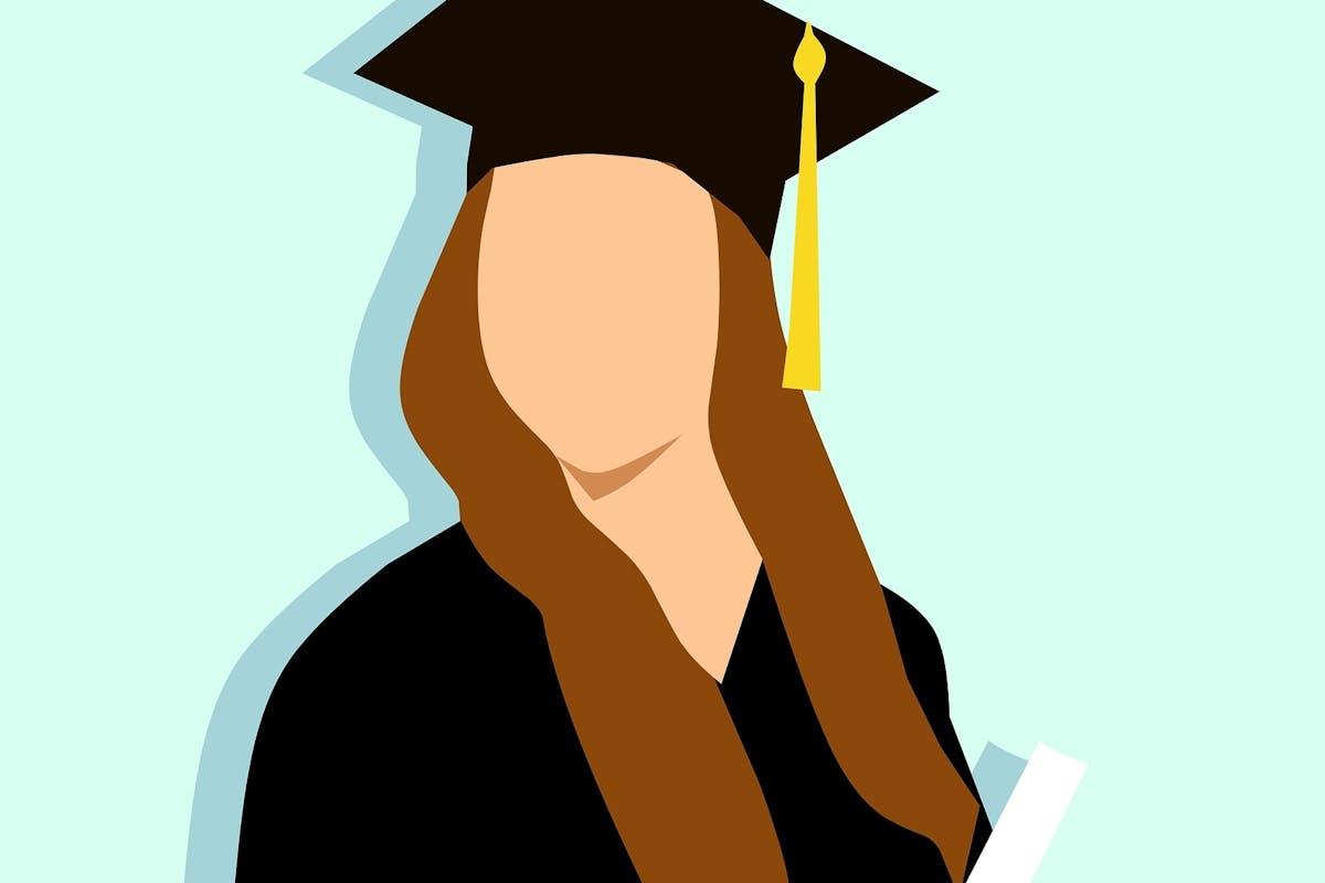 women graduate with degree