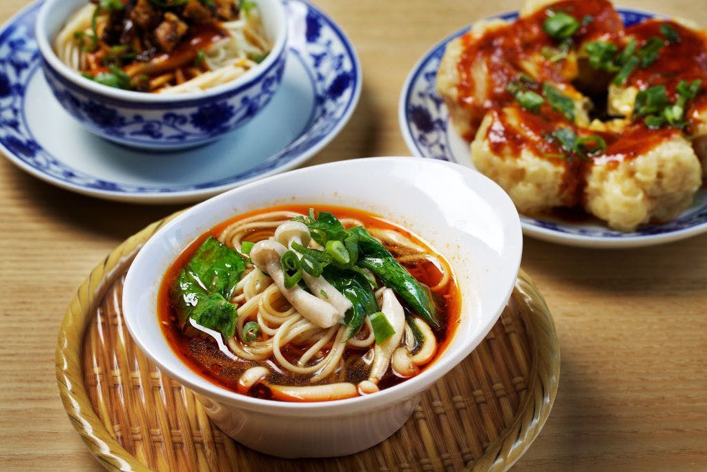 Sichuan street foods: Dan Dan noodles, wontons and hot-and-numbing noodles