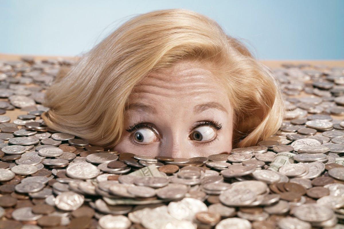 Woman confident money