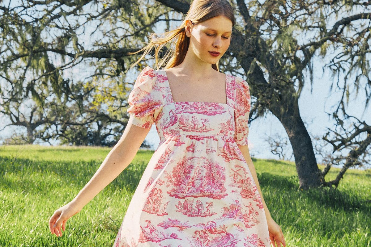 Pink florals and white fabrics feature on the new Laura Ashley collection