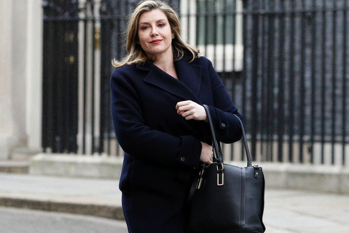 Penny Mordaunt, Defence Secretary, leaving Downing Street
