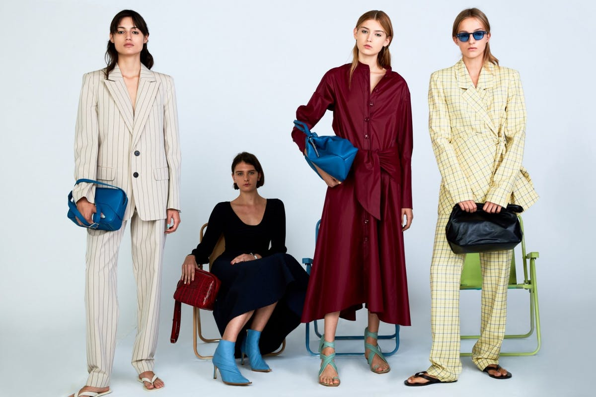 Tibi Spring 2019 yellow suit leather sandals new york fashion week investment designer luxury fashion style summer high street