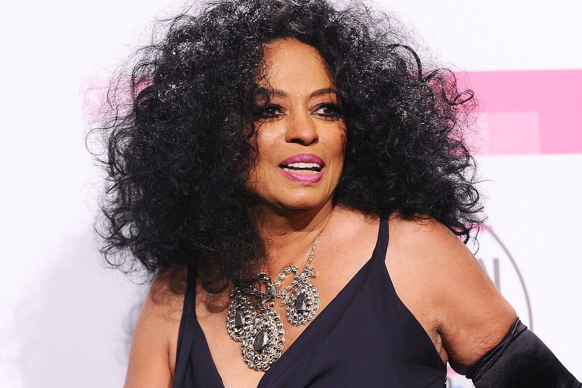 Diana Ross poses on the red carpet