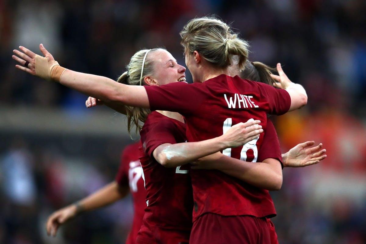 England Women's Football Team Celebrate