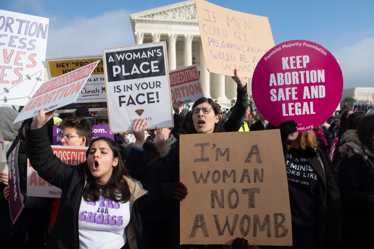 Abortion Rights protesters in Washington, D.C.