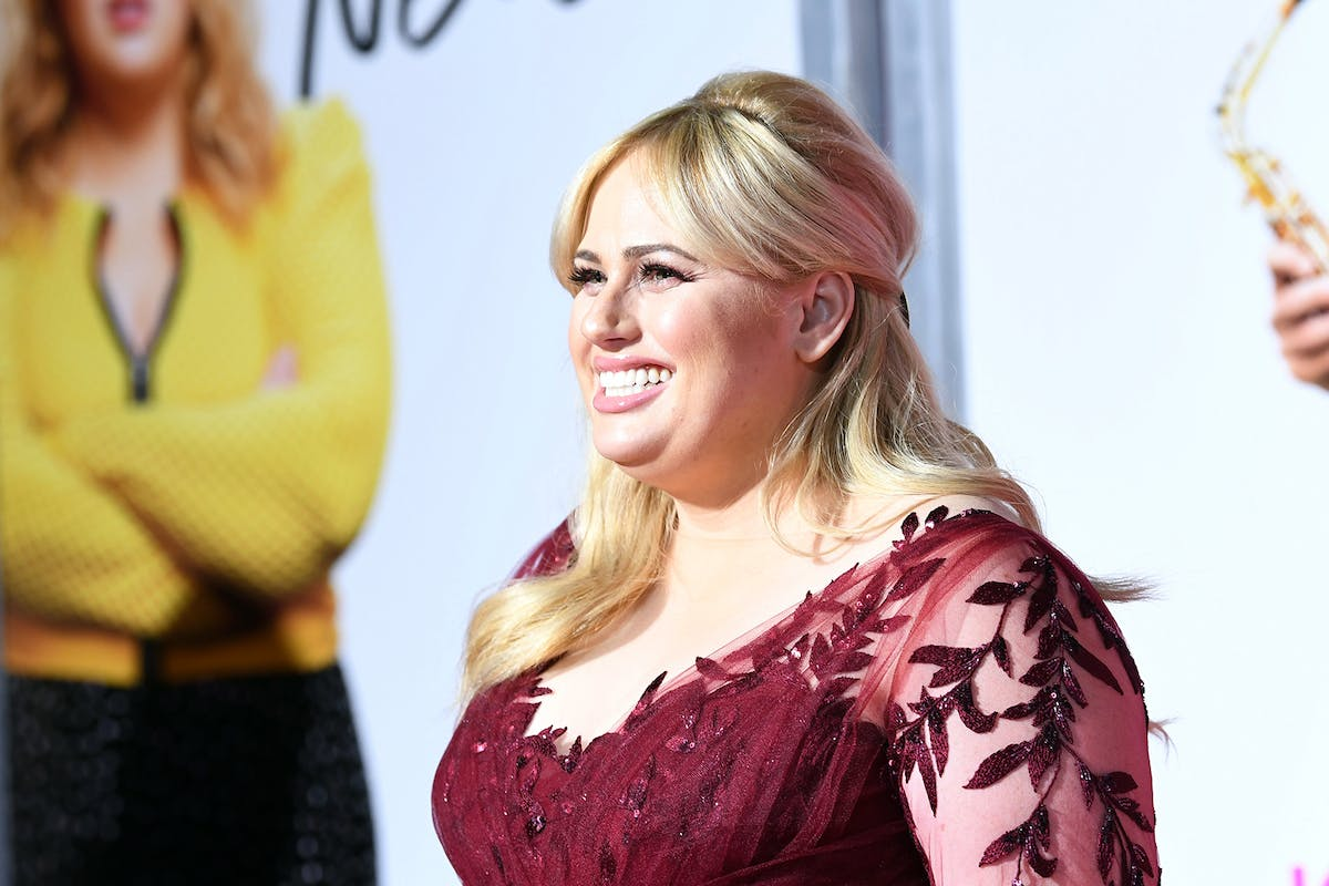 LOS ANGELES, CALIFORNIA - FEBRUARY 11: Rebel Wilson attends the premiere of Isn't It Romantic at The Theatre at Ace Hotel on February 11, 2019 in Los Angeles, California. (Photo by Amy Sussman/Getty Images)