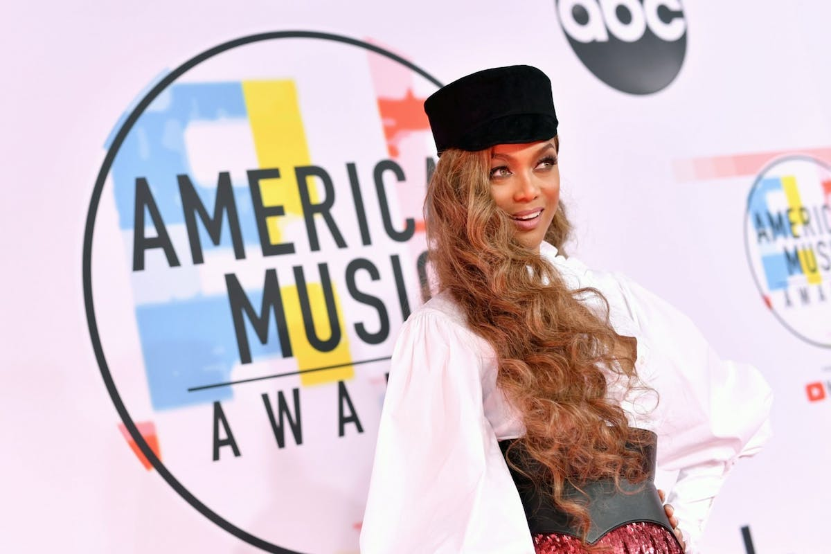 Tyra Banks on the red carpet at the American music awards