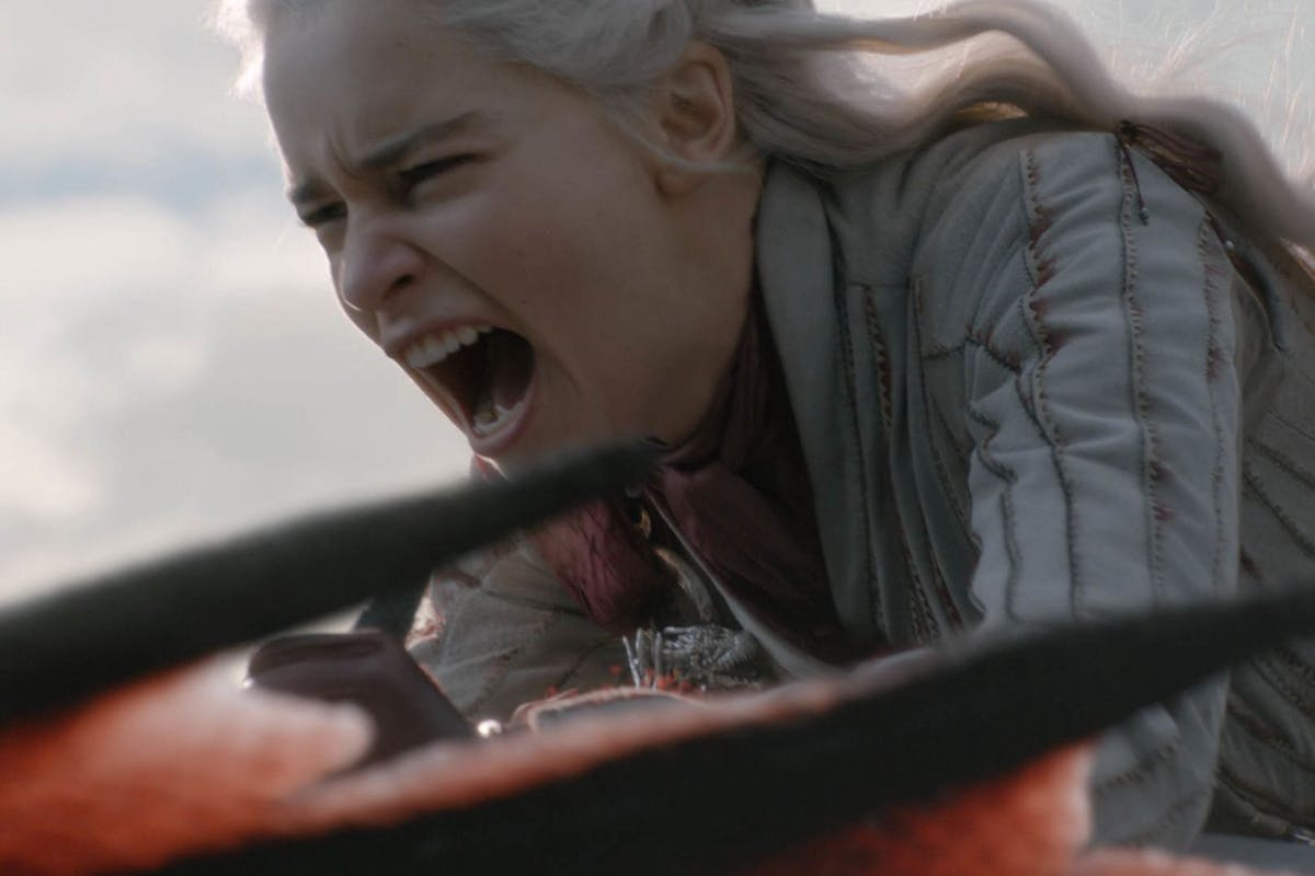 Emilia Clarke as Daenerys Targaryen in Game of Thrones season 8 episode 5