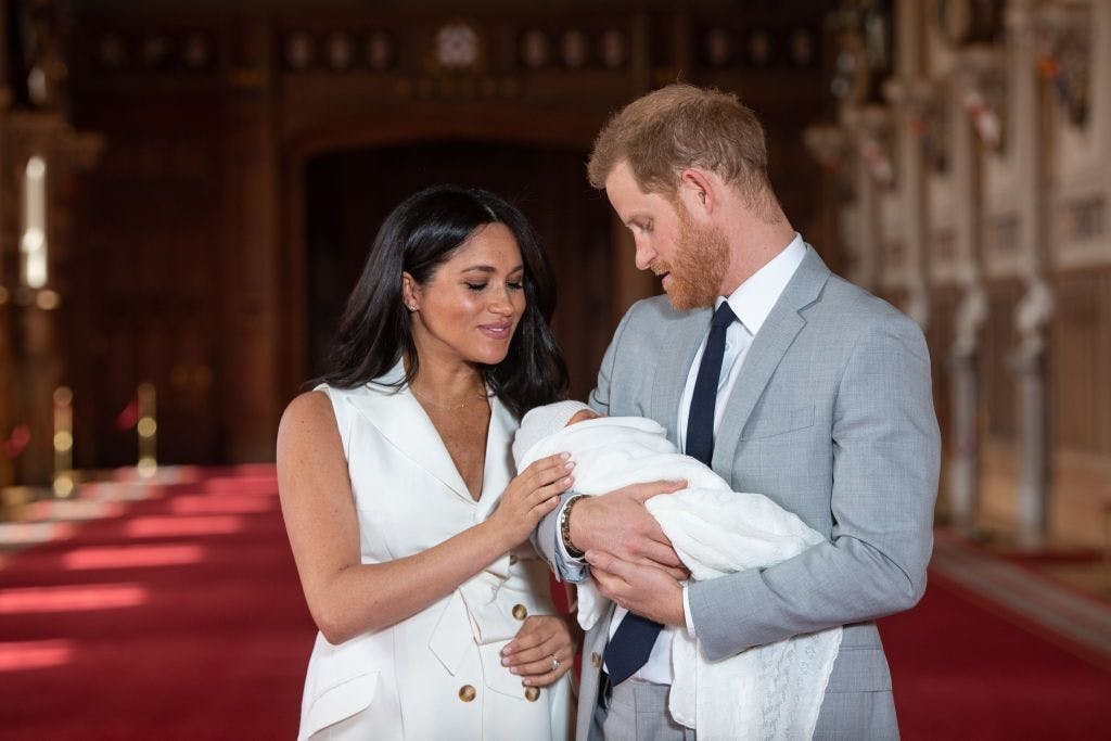 Meghan Markle and Prince Harry with their baby son Archie