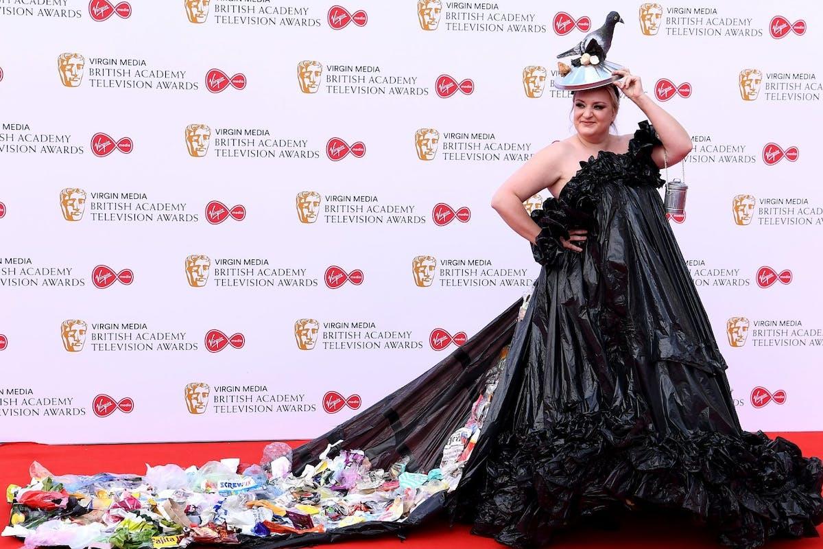 Daisy May Cooper's Bafta trash dress