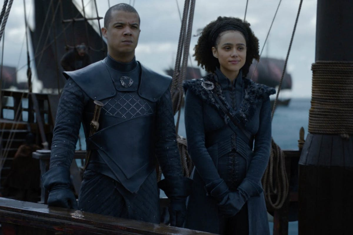 Game of Thrones: Grey Worn and Missandei