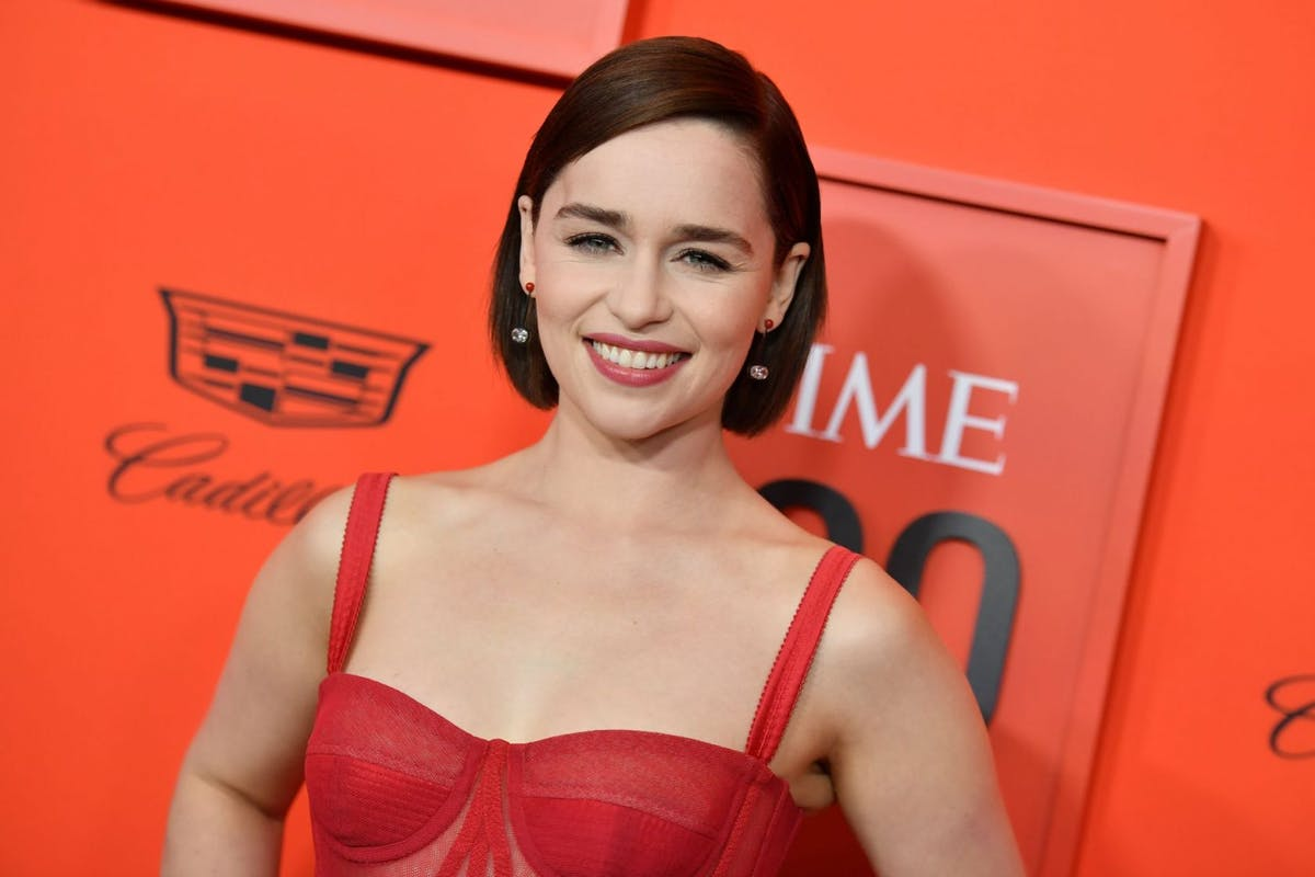 British actress Emilia Clarke arrives on the red carpet for the Time 100 Gala at the Lincoln Center in New York on April 23, 2019. (Photo by ANGELA WEISS / AFP) (Photo credit should read ANGELA WEISS/AFP/Getty Images)