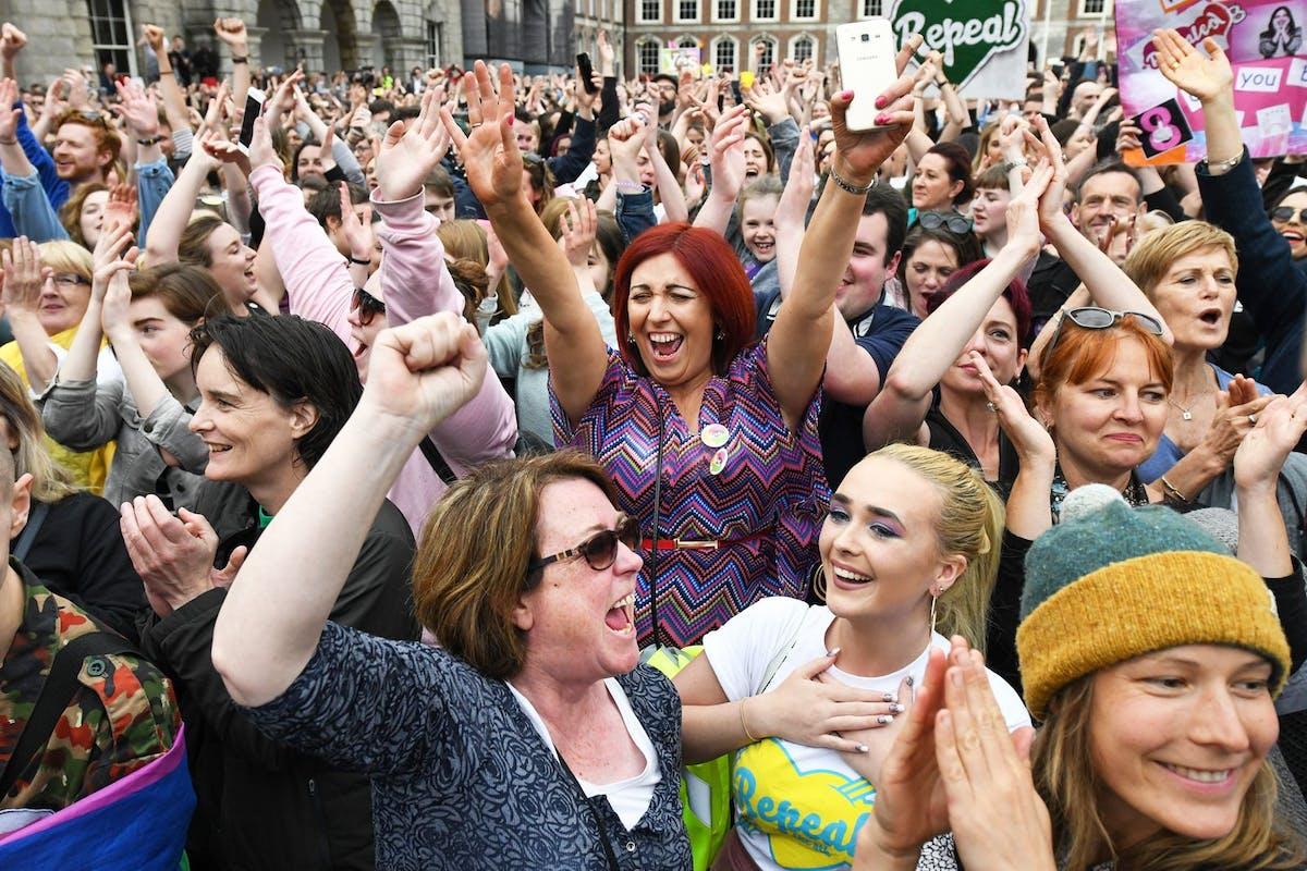 Scenes in Dublin after Ireland's abortion referendum