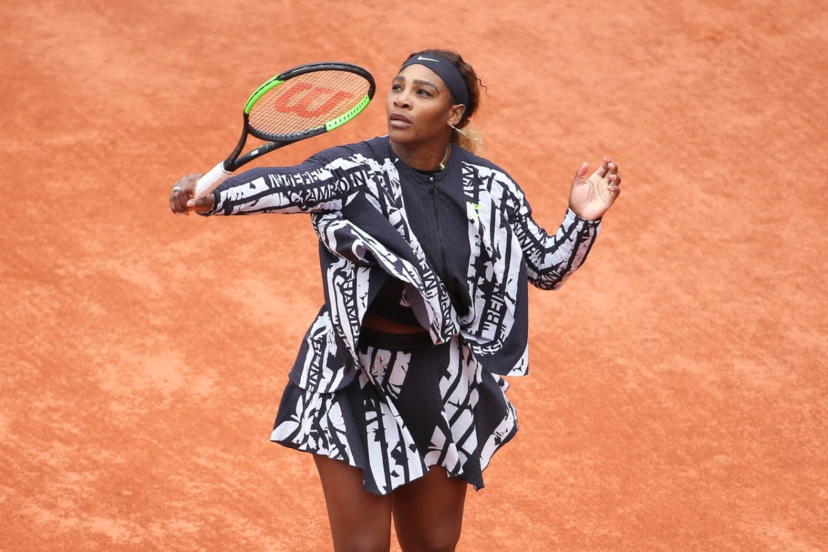 Serena Williams at the French Open 2019.