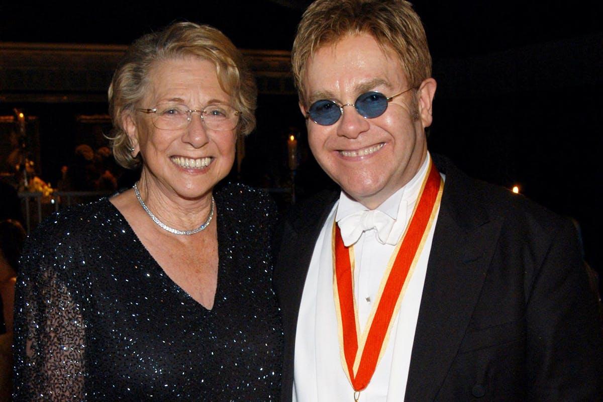 Elton John with his mum Sheila