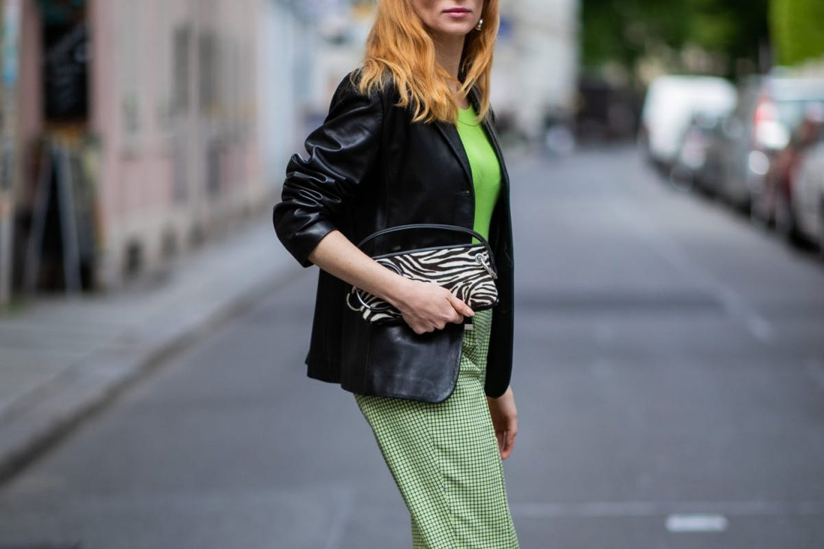 Street style lime green outfit