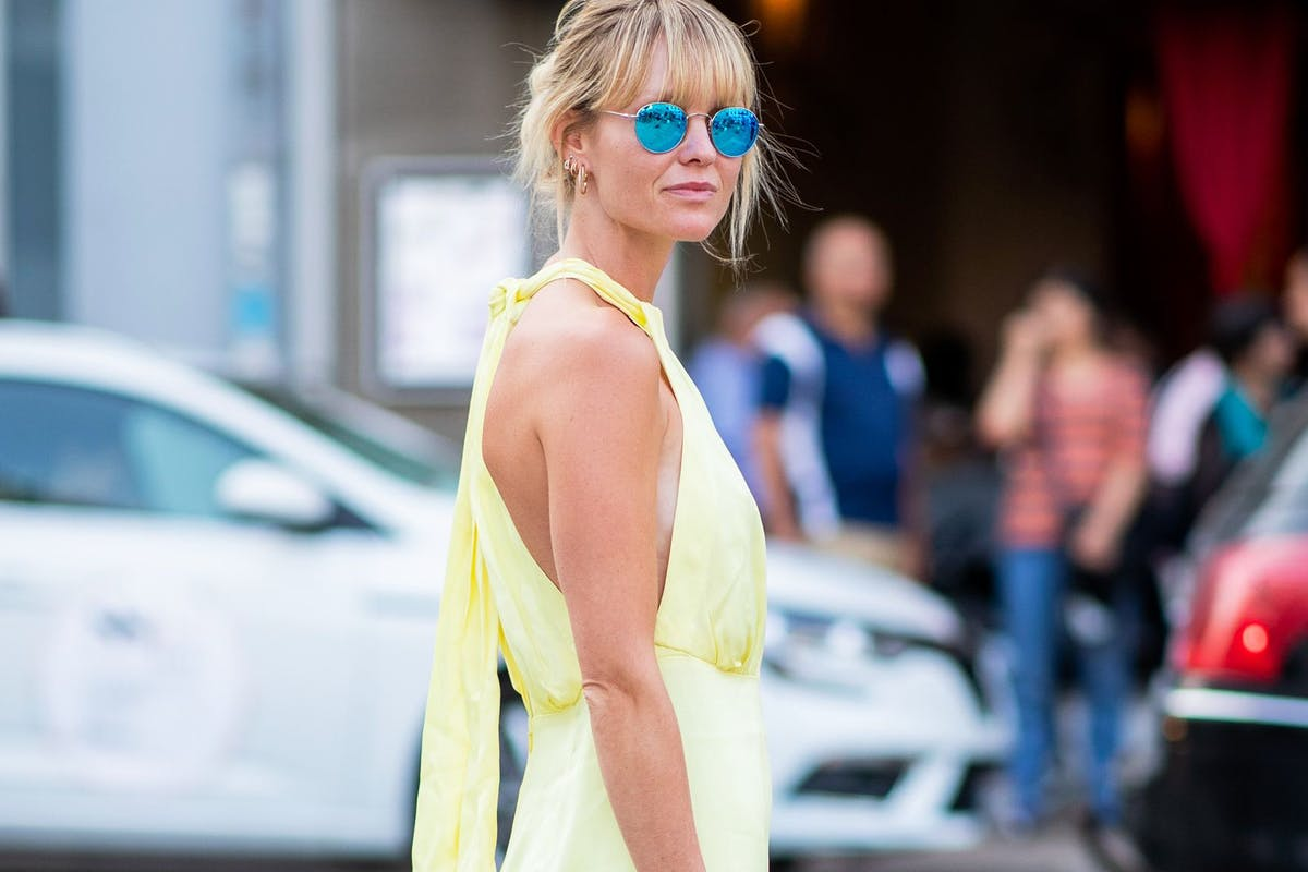 Yellow jumpsuit street style