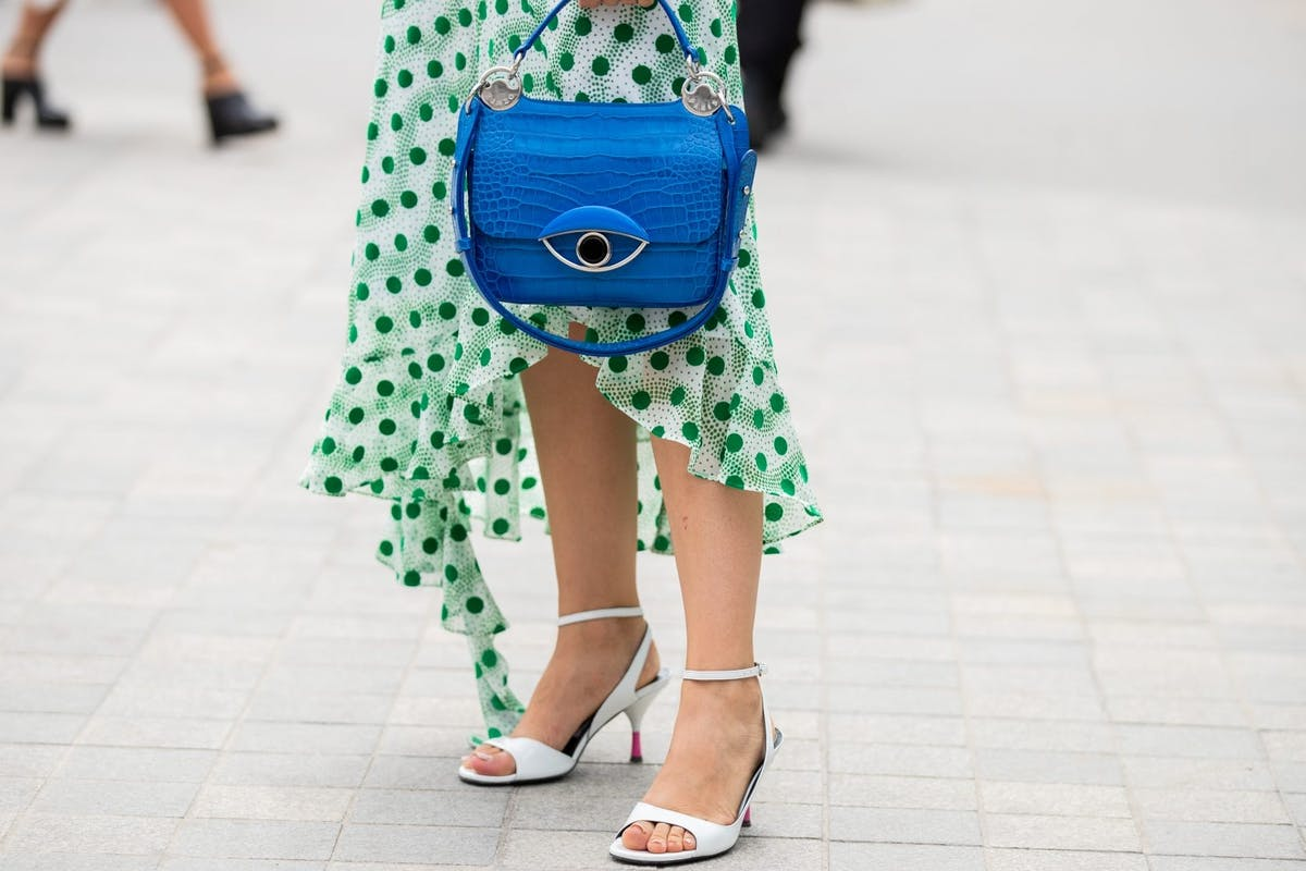 Street style shoes and bag