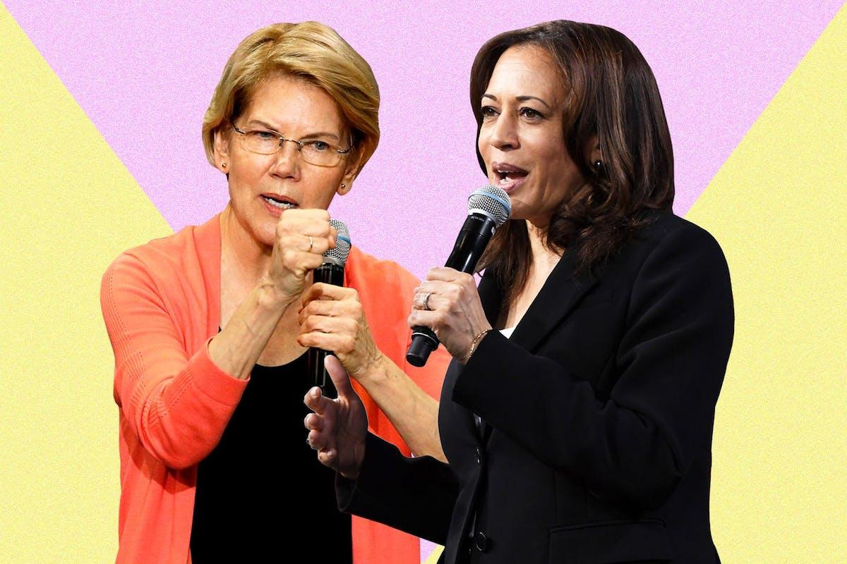 US election 2020: Elizabeth Warren and Kamala Harris