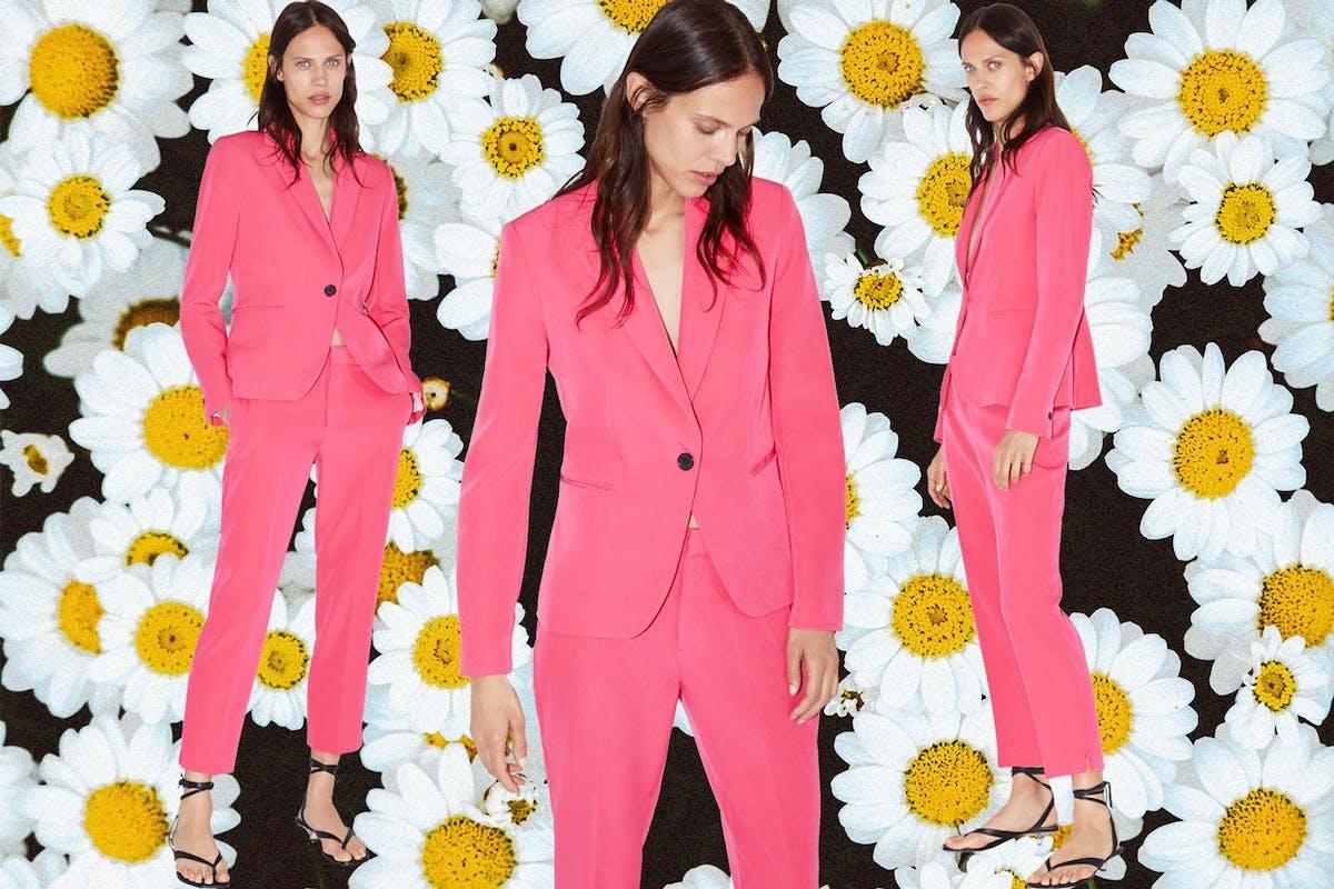 Bridesmaid suits: Zara