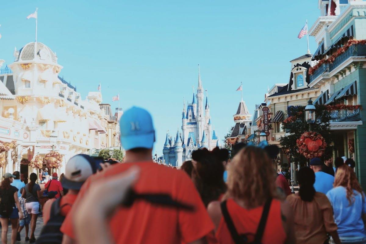 Crowds of people at Walt Disney World Resort Florida