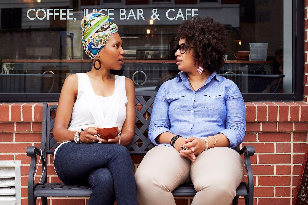 women at coffee shop