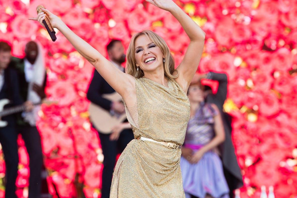 Kylie Minogue at Glastonbury.