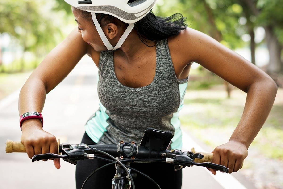 Black female cyclists