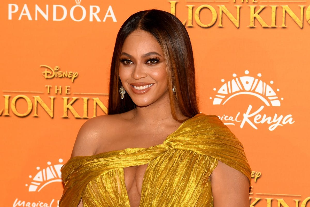 Beyonce Knowles at The Lion King in London