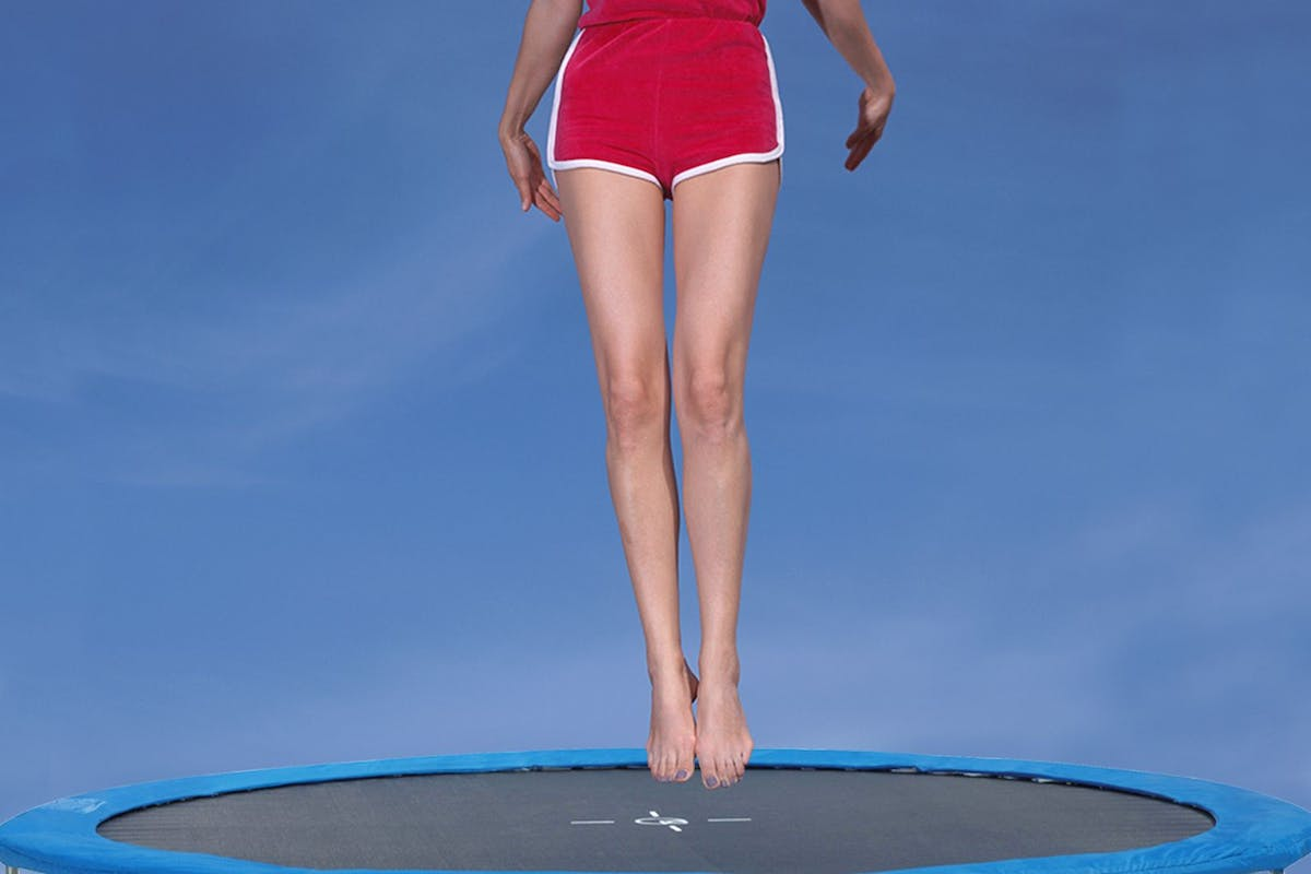 This sexist trampoline advert perpetuates a tired old myth about female strength