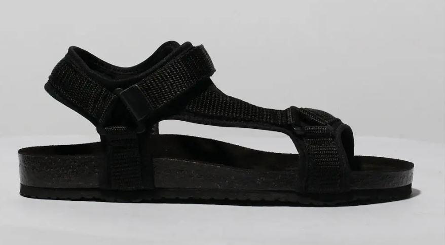 Shop black flat sandals to replace your Birkenstocks online