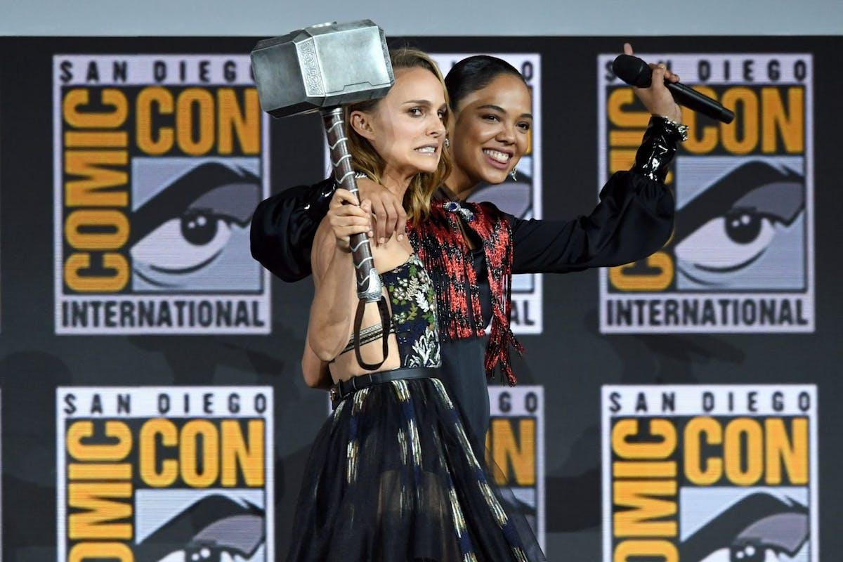 Natalie Portman and Tessa Thompson