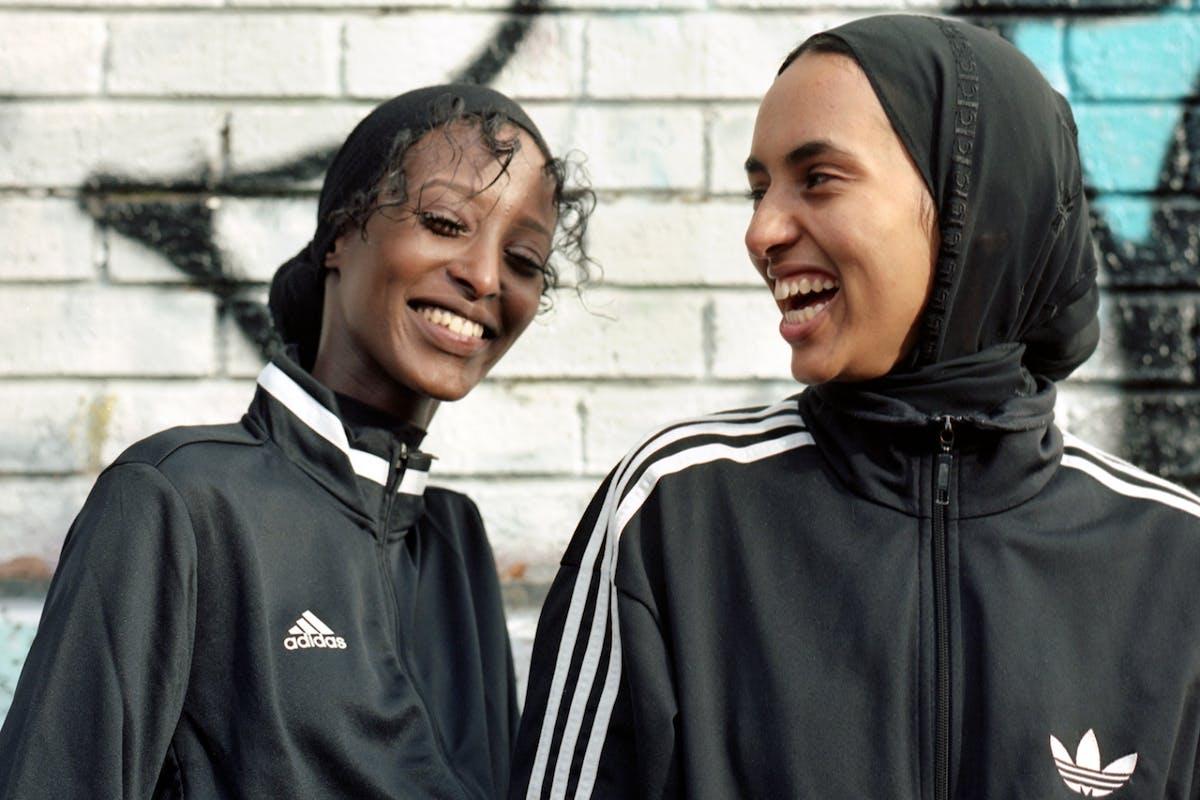 Muslim women footballers adidas