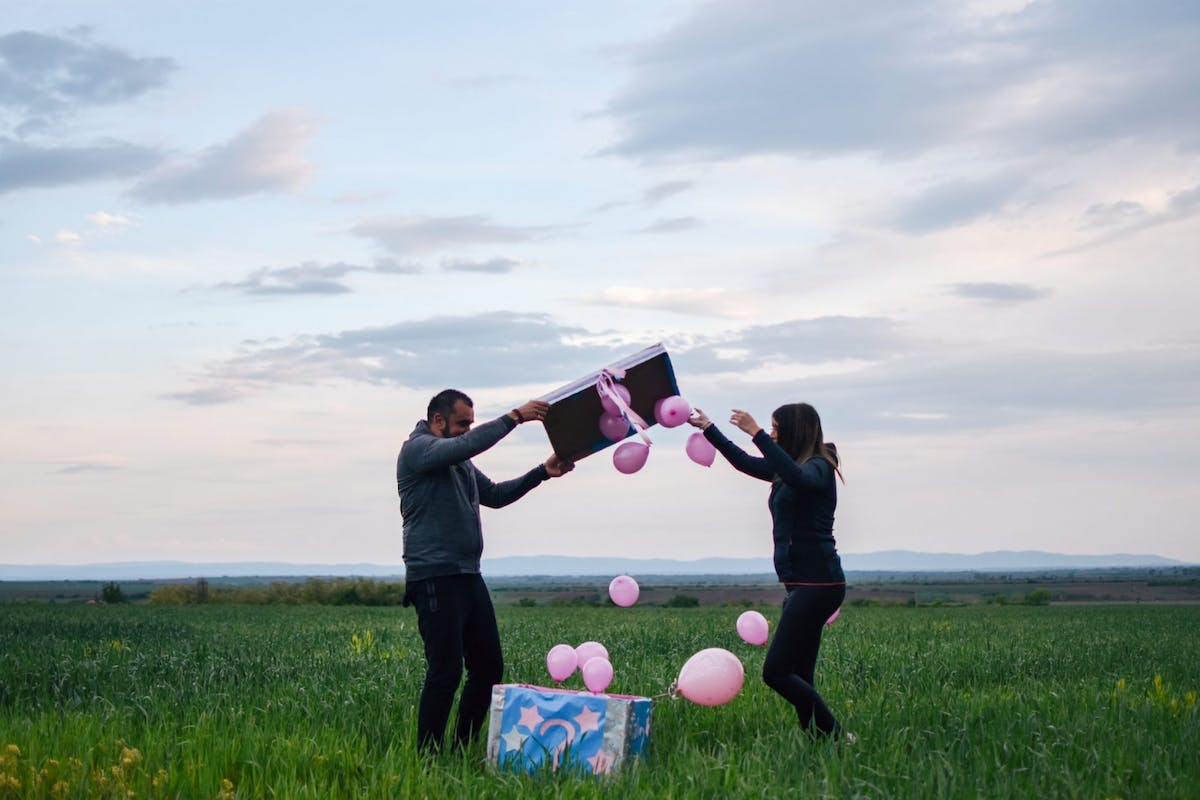 Gender Reveal Party pink balloons its a girl