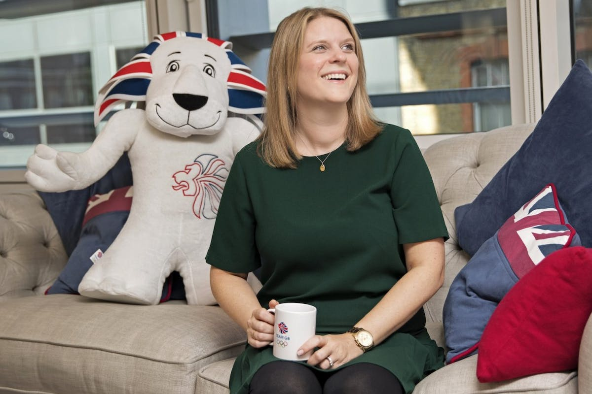 Carly Hodgson, Team GB head of marketing, in her office