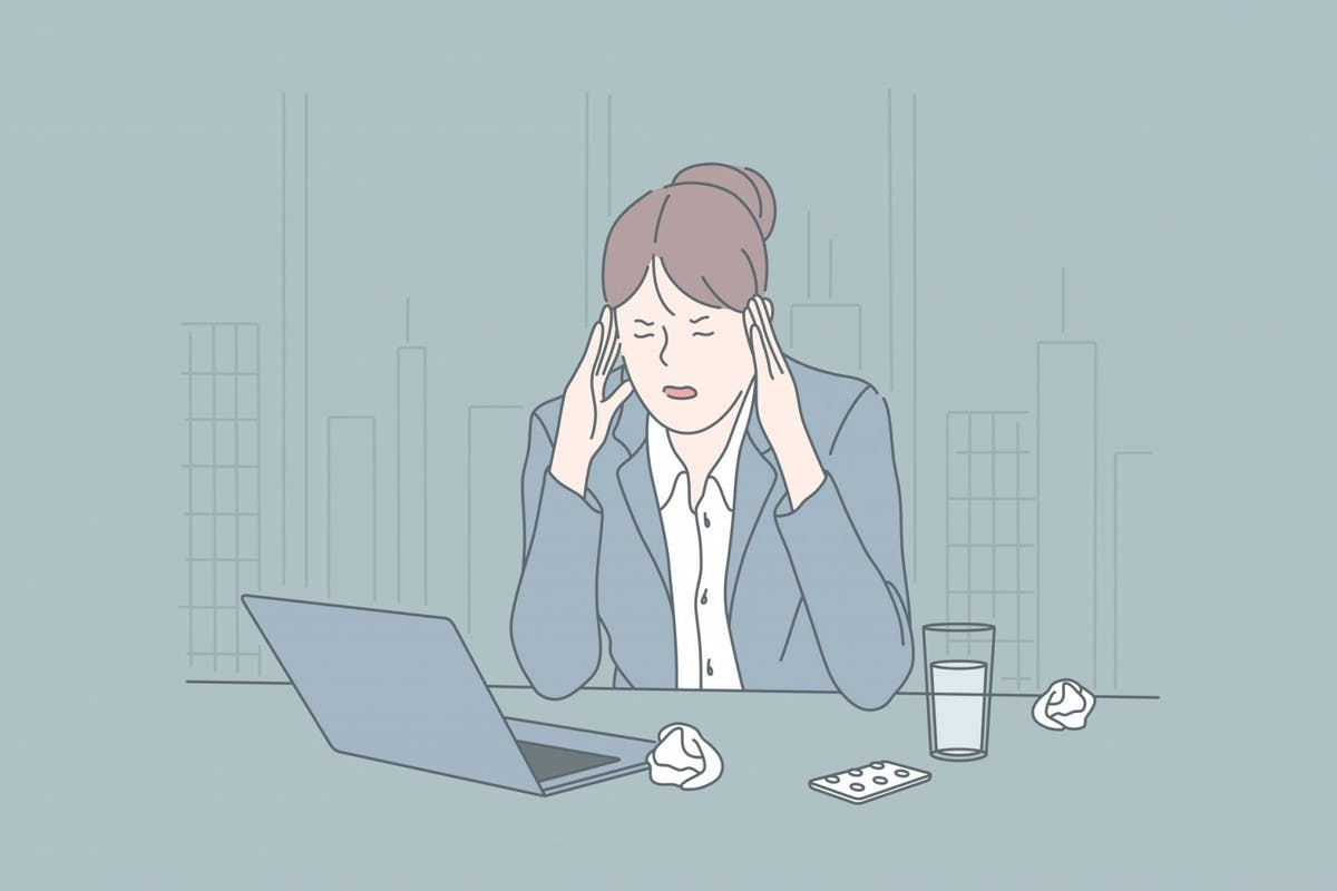 A woman dealing with workplace stress