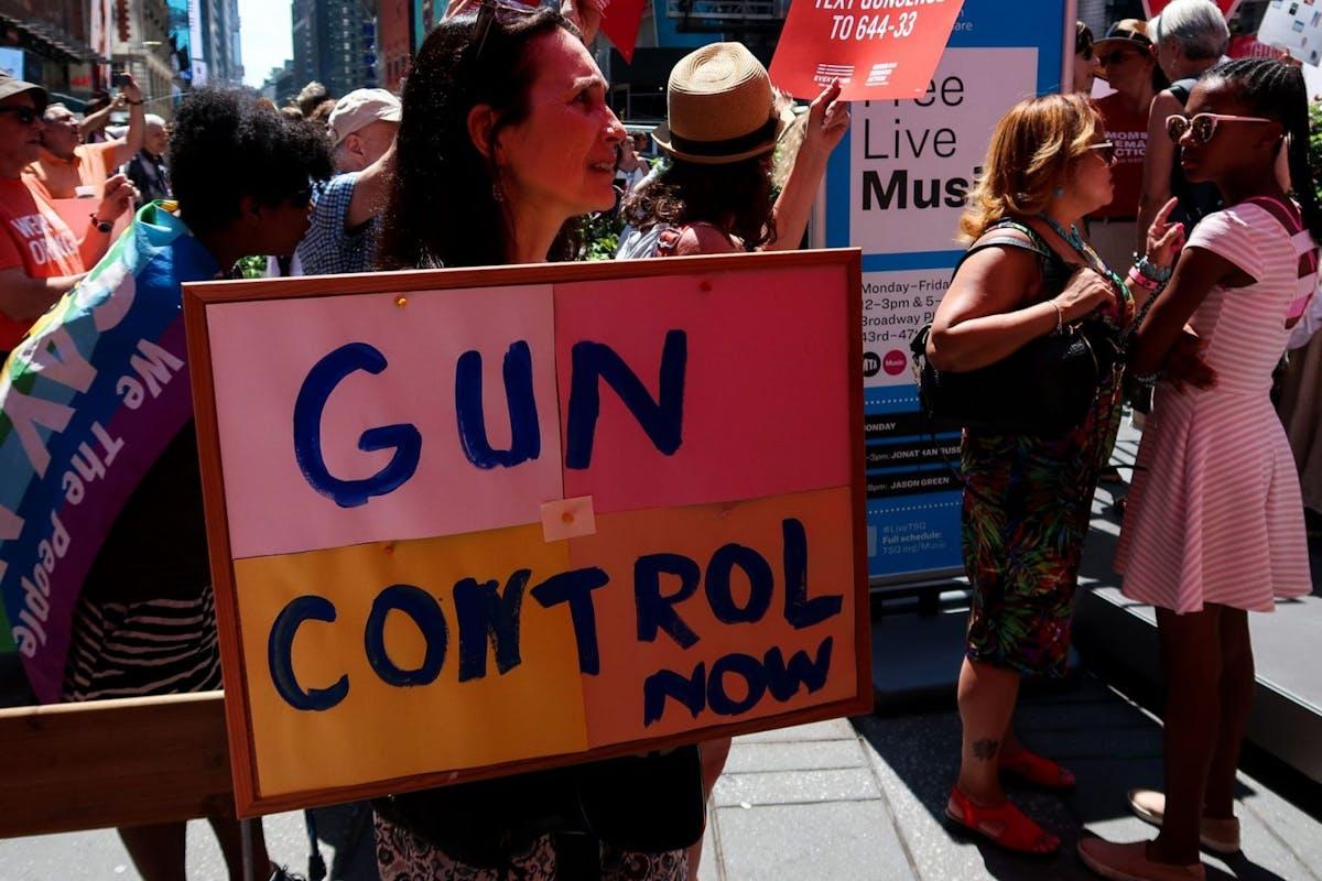 Protestors demand gun control laws change in the US