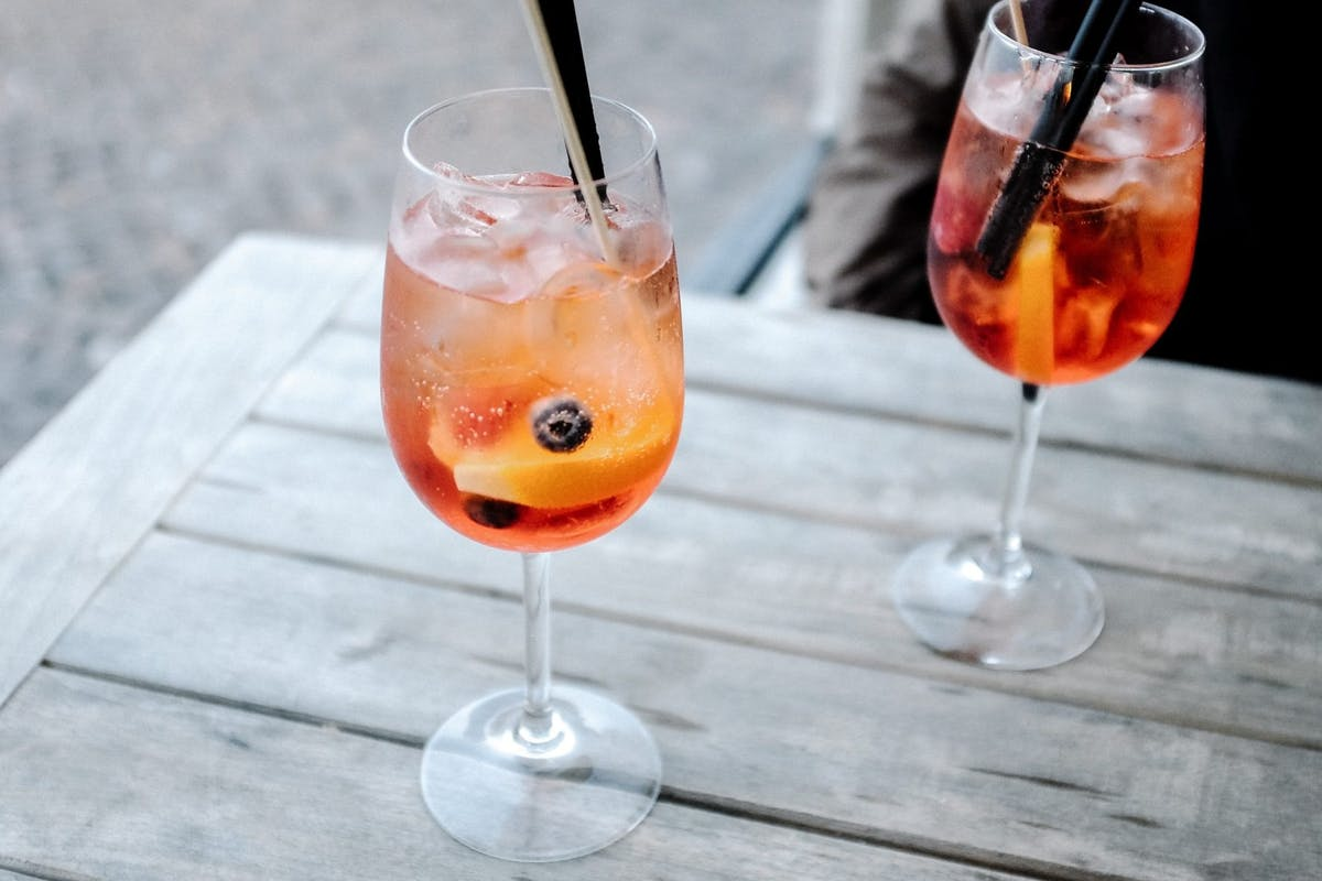 Aperol Spritz cocktails on a table