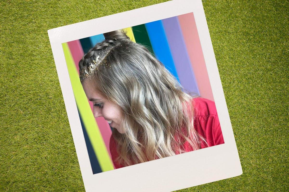 Princess Beatice had glitter hair at Wilderness 2019
